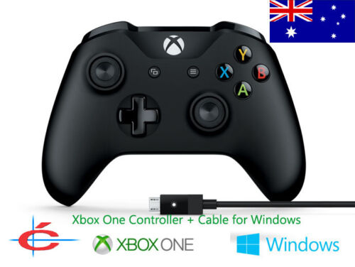 Genuine Microsoft XBOX One Wireless Controller + Wired for Windows 7 8 10 PC