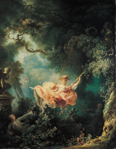 The Swing by Jean Honore Fragonard Canvas Fine Art Giclee Print