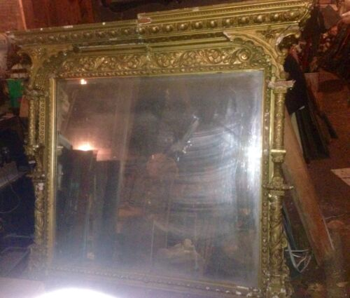 Oversized Architectural French Mirror For Restoration Or Repurpose