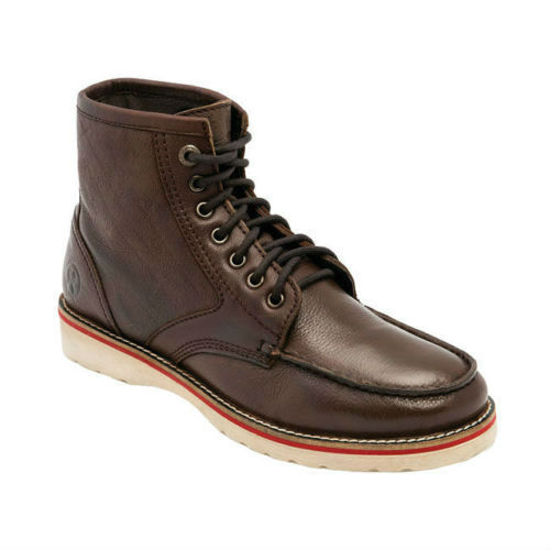 Jesse James Sturdy Leather Work Boots In Dark Brown **FREE UK DELIVERY**