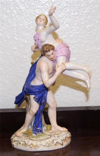 Antique Meissen Porcelain Figure Group The Rape of Sabine Model Kaendler C.1830