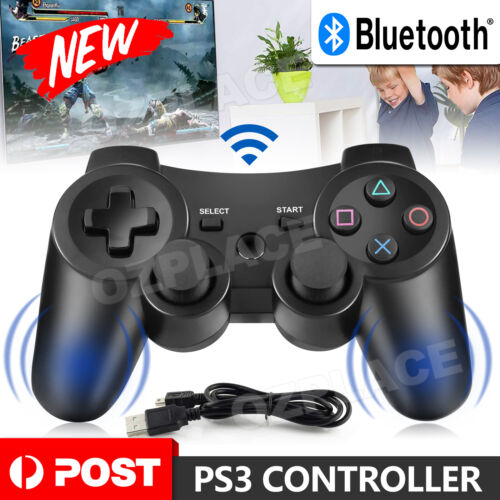 Dual Shock Wireless Bluetooth Controller Remote Joystick For PS3 Gamepad AU