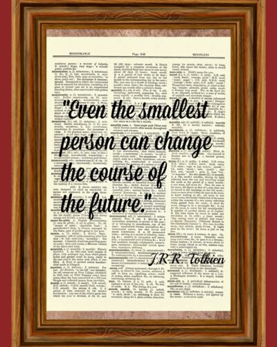 J.R.R. Tolkien Hobbit Child Dictionary Wall Art Print Book Inspirational Page