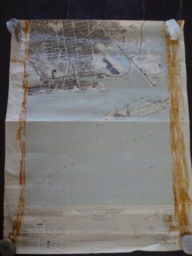 1947 - ANTIQUE Map of Coney Island, NY - Army Map Service, War Department