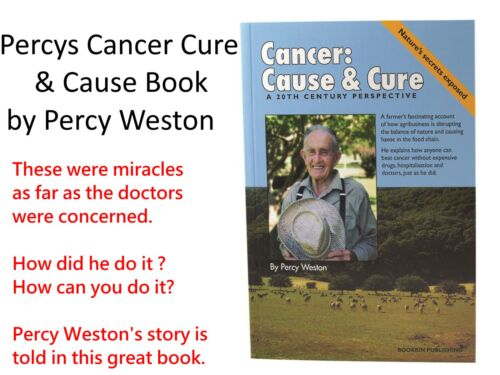 Percys Cancer Cure & Cause Book ( by Percy Weston )