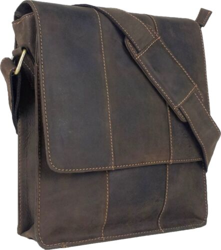 UNICORN Real Leather iPad, Kindle, Tablets & Accessories Messenger Bag Brown #5E