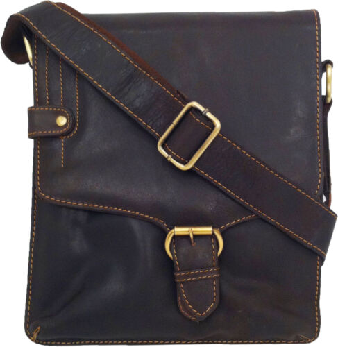 UNICORN Real Leather iPad, Kindle, Tablets & Accessories Messenger Bag Brown #4M