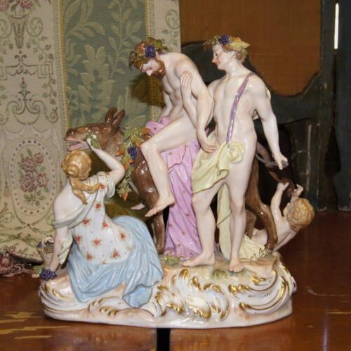 Meissen Painted Porcelain Figure of the 'Drunken Silenus' 3rd Quarter 19th Cntry