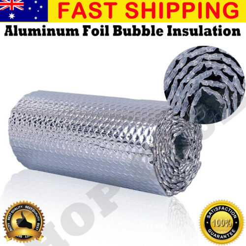 10/20/30M*1.2M SILVER AIR BUBBLE CELL INSULATION REFLECTIVE FOIL ROOF ALUMINIUM
