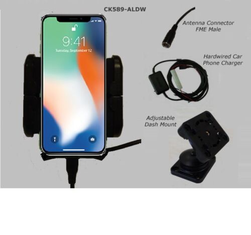 iPhone X XS 11 car cradle + ext antenna connection -Smoothtalker XR XS car kit