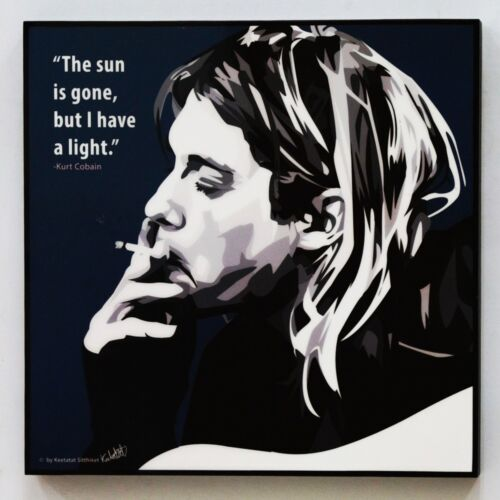 Kurt Cobain canvas quotes wall decals photo painting framed pop art poster #2
