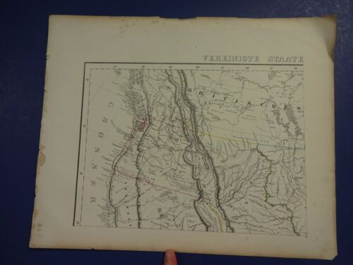 Hand-Colored Map/Vereinigte Staate - N.W. part of the U.S. & Canada