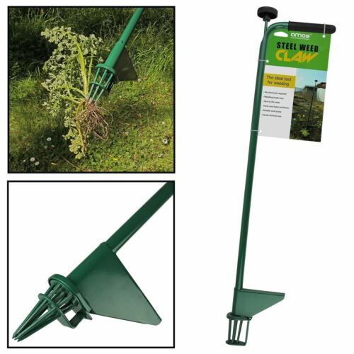 AMOS Steel Weed Puller Claw Lawn Weeder Root Remover Killer Grabber Garden Tool <br/> HIGH QUALITY WEED PULLER!! ESSENTIAL GARDENING TOOL!!