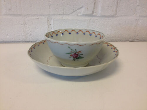 Antique 18th / 19th Century Chinese Export Porcelain Tea Bowl & Saucer