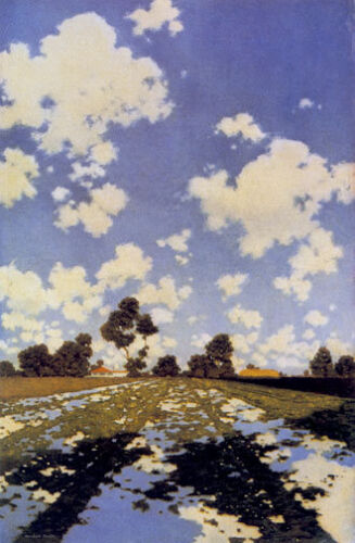 Water on a Field 30x44 Hand Numbered Edition Maxfield Parrish Art Deco Print
