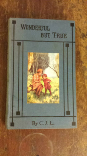 WONDERFUL BUT TRUE or TALKS WITH THE WEE ONES c.j.l  small hardcover 1890