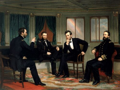 Abraham Lincoln The Peacemakers Civil War Painting Quality Canvas Fine Art Print