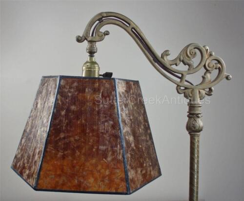 Mission Arts & Crafts Mica Bridge Floor Lamp Shade Amber Tailor Made Lampshades