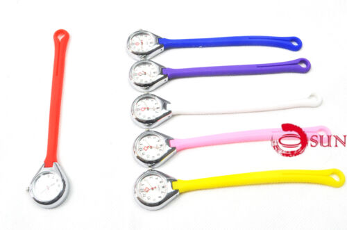 Silicone Nurse Brooch Tunic Fob Watch Nursing Nurses Pocket Watch Long Fastener