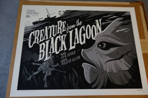 Tom Whalen Creature from The Black Lagoon Variant Print DHM Universal Monsters
