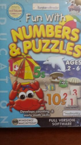 Fun with Numbers & Puzzles Ages 2-6 PC GAME