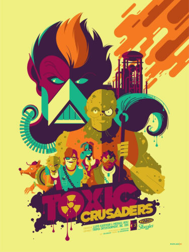The Toxic Crusaders Poster - Tom Whalen - Limited Edition of 100