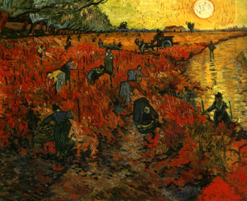 Vincent  Van Gogh The Red Vineyard Giclee Canvas Print