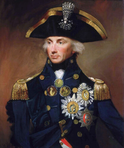 Lord Nelson British Royal Navy Admiral Portrait Painting Real Canvas Art Print