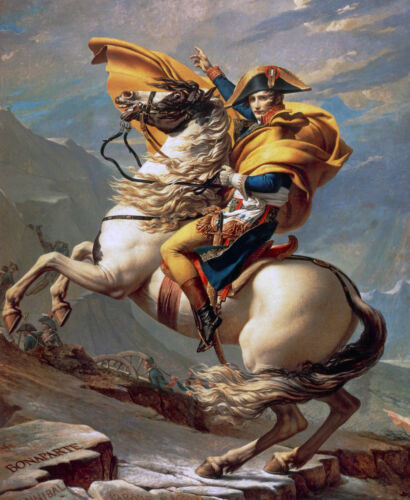 Napoleon Bonaparte on Horse French Painting 8x10 Real Canvas Art Print