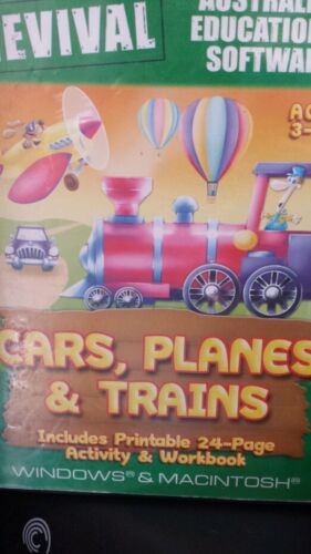 Cars Planes & Trains Ages 3-8+ PC GAME - FREE POST