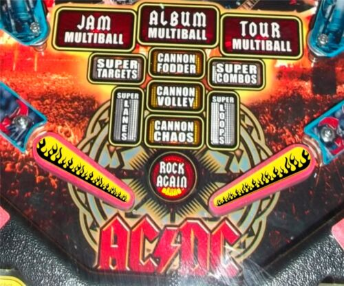 Top Holiday Gifts Flames - Pinball Machine Flipper Bat Topper MOD for Stern's AC DC & KISS Pinball