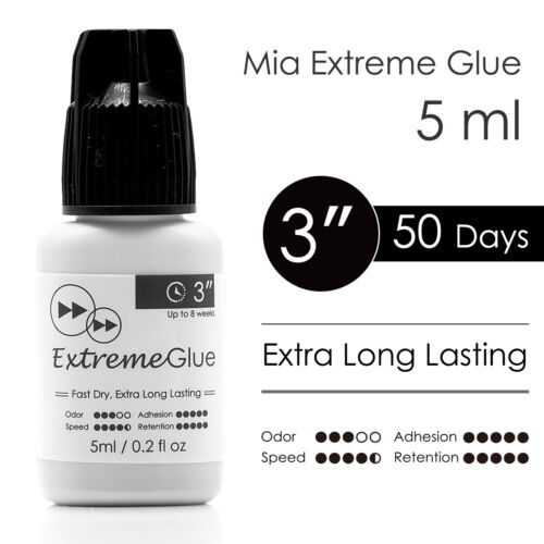 Eyelash Extension Glue Mia Extreme Lash Adhesive Fast Strong Extra Long Lasting <br/> ✔ Quick Dry ✔ Strong Bonding ✔ 3 sec ✔ 8 weeks(50 days)