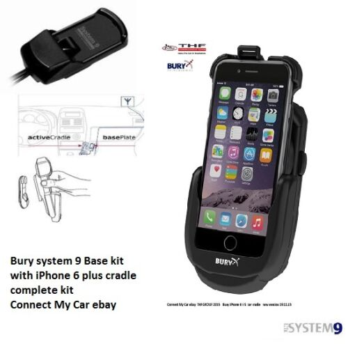 Bury S9 System 9 Cradle Car Kit iPhone 6 Plus active  system 9 Base complete