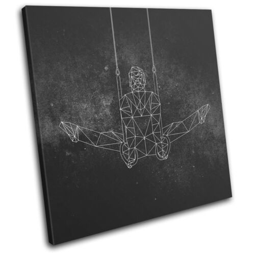 Geometric Abstract Gymnast Sports SINGLE CANVAS WALL ART Picture Print
