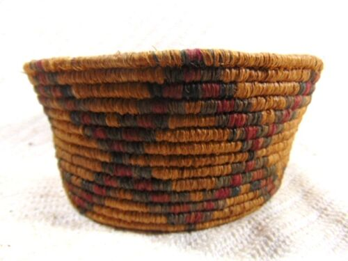 ANTIQUE NATIVE AMERICAN INDIAN HAND WOVEN BASKET BOWL APACHE PIMA HOPI ?