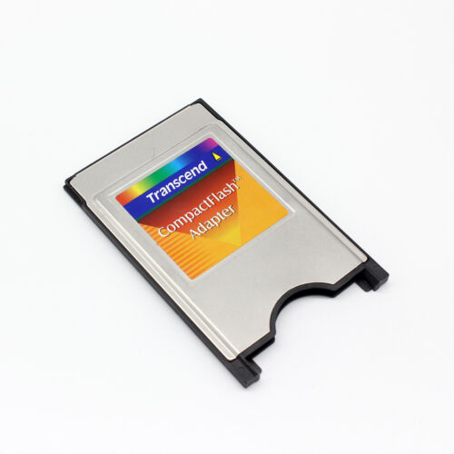 Transcend PCMCIA TO CompactFlash Card Adapter,CF TO PC Adapter Converter New