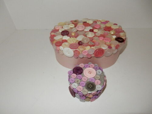 Balsa Wood? Box covered with beautiful buttons!