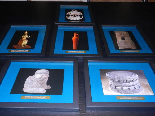 Set of 6 Framed Prints Issued by Oriental Institute