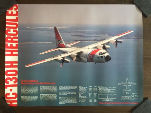 Glossy IN COLOR HC-130H Hercules Aircraft Poster-circa 1990sReproductions - 156452