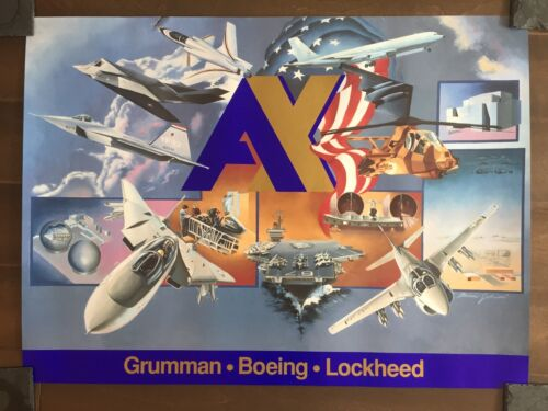 Glossy IN COLOR Grumman-Boeing-Lockheed Poster-circa 1990sReproductions - 156452