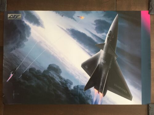 COLOR Glossy Lockheed/Boeing Aircraft Poster-circa 1990sReproductions - 156452