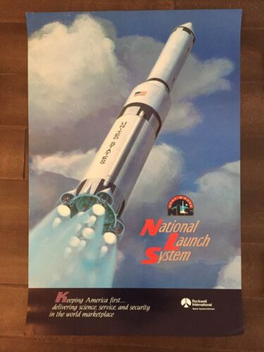 Glossy IN COLOR National Launch System Aircraft poster- circa 1990sReproductions - 156452