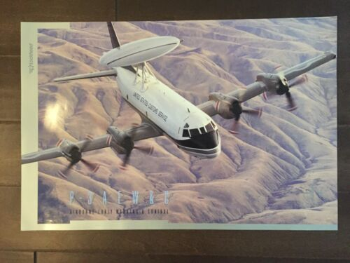 Glossy IN COLOR Lockheed P-3 AEW&C Aircraft Poster- circa 1990sReproductions - 156452
