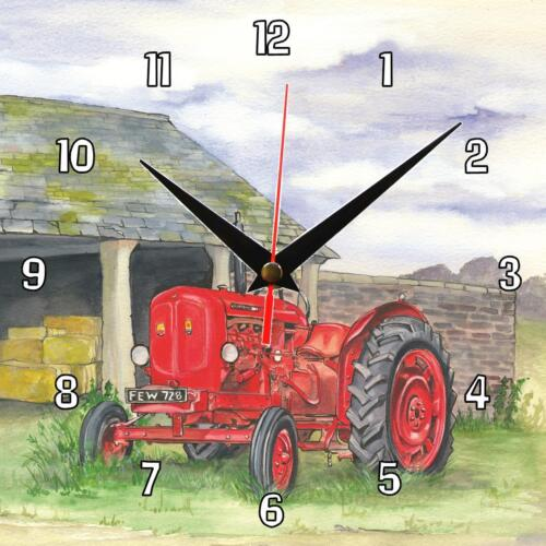 No.30 Nuffield Tractor Sue Podbery Wall clock great handmade gift present
