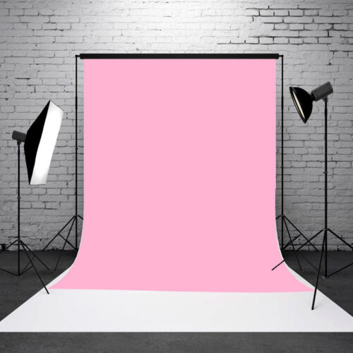 3x5ft Baby Pink Thin Vinyl Photography Backdrop Background Studio Photo Props