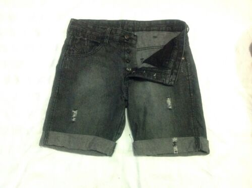 Mens Size 30 Charcoal Button Fly denim shorts  - Cotton On