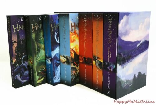 Harry Potter 7 Books Complete Collection Paperback Boxed Set Children Edition