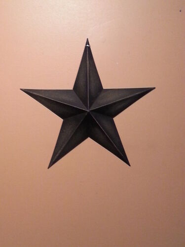 """Lot of 6 Primitive 8"""" Black Barn Star - Decorate, Crafts, Country, Metal, Stars"""
