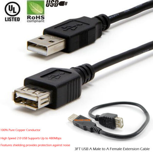 5M 8M 10M High Speed USB 2.0 Cable AMAF Male/Female Extension Cord Data Transfer