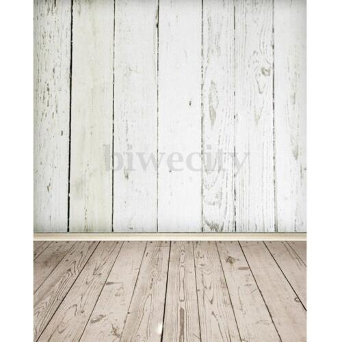 3X5FT White Wood Wall Floor Photography Background Backdrop Photo Studio Prop